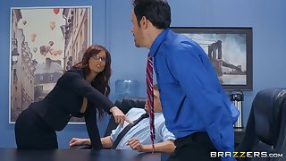 Syren De Mer adores having good sex involving her horny boss in the office