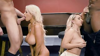 Big tits blonde milfs wild foursome in crazy scenes