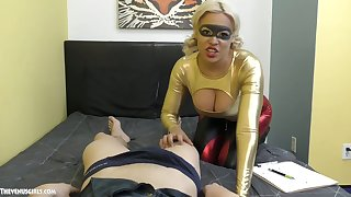 The man blonde gives a blowjob and titjob to hot blooded Asian scantling Jason Katana