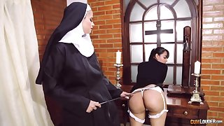 Crazy nun lesbian fetish relating to two amazing body of men