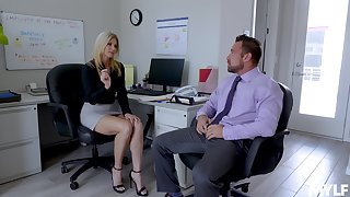 Sexy India Summer enjoys sex with their way colleague in their way office