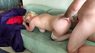 Stepmom lets stepson fuck both holes - Erin Electra