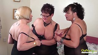Busty mature BBWs are alert for some steamy group sex