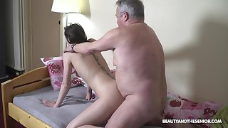 Fresh tainted young chick Nana Garnet is hammered mish together with doggy by older man