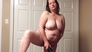 BBW mom with hairy pussy around panties and BBC fantasy
